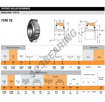 02476X-02419-TIMKEN - 31.99x66.99x20.5 mm