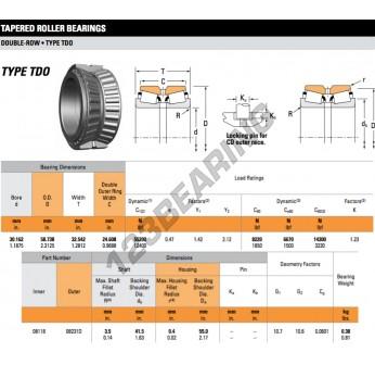 08118-08231D-TIMKEN - 30.16x58.74x32.54 mm