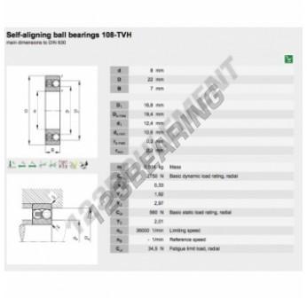 108-TVH-FAG - 8x22x7 mm