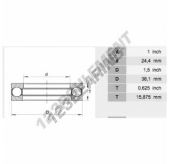 10Y25 - 24.4x38.1x15.88 mm