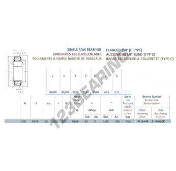 111050-111090C-GAMET - 50x90x26.5 mm