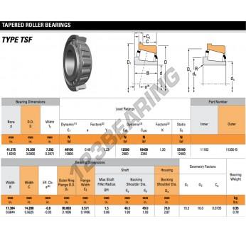 11162-11300-B-TIMKEN - 41.28x76.2x17.38 mm