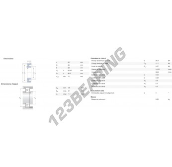 11308-SKF - 40x90x23 mm
