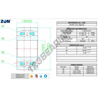 1200-ZEN - 10x30x9 mm