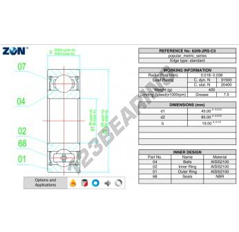 6209-2RS-C3-ZEN