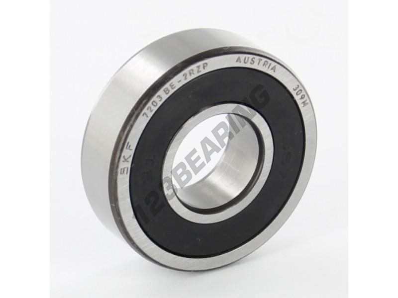 Deep Groove Ball Bearing 7203 Be 2rzp Skf 17x40x12 Mm