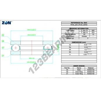 B5-ZEN - 5x12x4 mm
