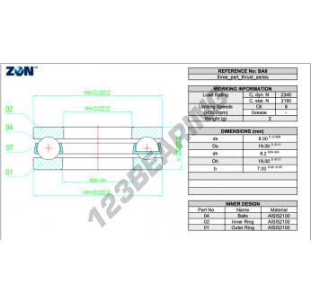 B8-ZEN - 8x19x7 mm