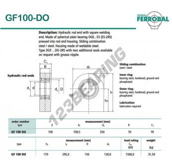 DGF100-DO-DURBAL - 100x250x70 mm