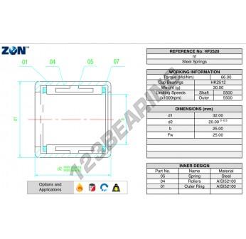 HF2520-ZEN - 25x32x20 mm