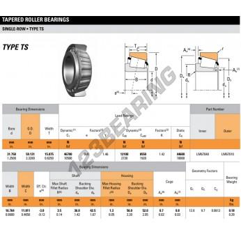 LM67048-LM67010-TIMKEN - 31.75x59.13x15.88 mm
