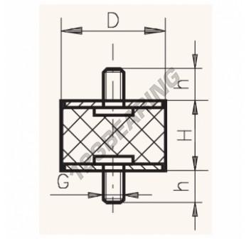 MM2015-6 - M6x20x15 mm