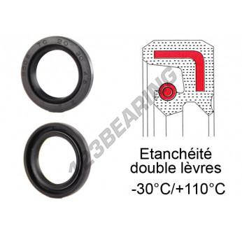 Métrique oil seal double lèvre 17 mm x 27 mm x 7 mm