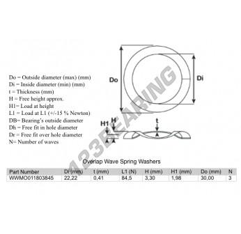 OWSW-30-22.22-0.41-3 - 22.22x0.41 mm