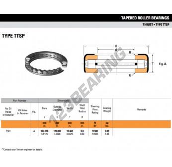 T581 ENDURO Brand Timken style Thrust Roller Bearing ships fast from California