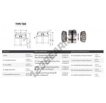 TDO-64450-64700DCX1F-64450 - 114.3x177.8x92.07 mm