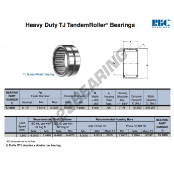 TJ6935-RBC - 165.1x203.2x63.5 mm