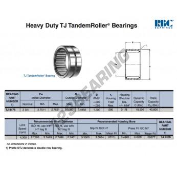TJ8476-RBC - 69.85x88.9x38.1 mm