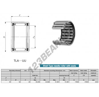 TLA4520-UU-IKO - 45x52x20 mm