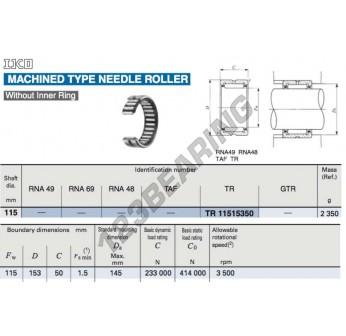 TR11515350-IKO - 115x153x50 mm