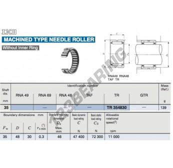 TR354830-IKO - 35x48x30 mm