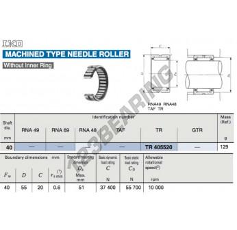 TR405520-IKO - 40x55x20 mm