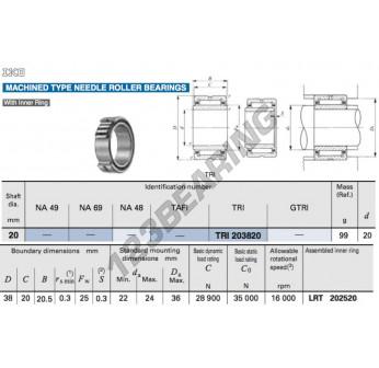 TRI203820-IKO - 20x38x20 mm