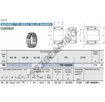 TRI405930-IKO - 40x59x30 mm