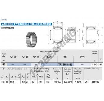 TRI8511850-IKO - 85x118x50 mm
