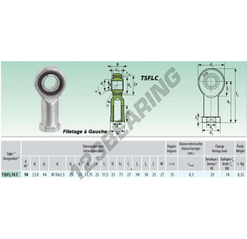 TSFL018-C - M18x18 mm