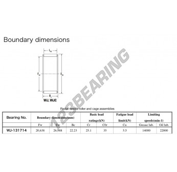 WJ-131714-KOYO - 20.64x26.99x22.23 mm