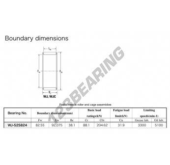 WJ-525824-KOYO - 82.55x92.08x38.1 mm