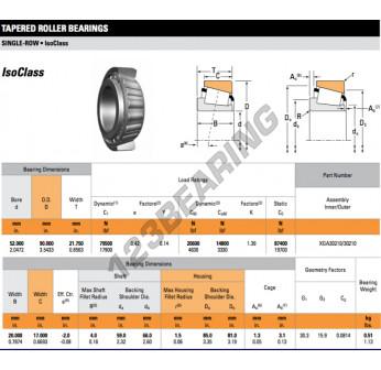 XGA30210-30210-TIMKEN - 52x90x21.75 mm
