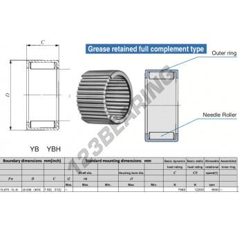 YB105-IKO - 15.88x20.64x7.92 mm