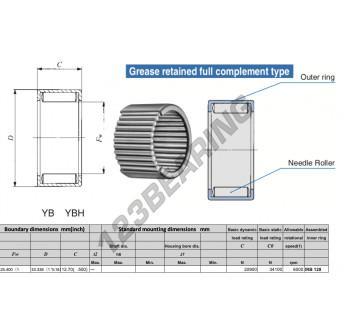 YBH168-IKO - 25.4x33.34x12.7 mm